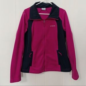 Columbia | Magenta Fleece Full Zip Sweater
